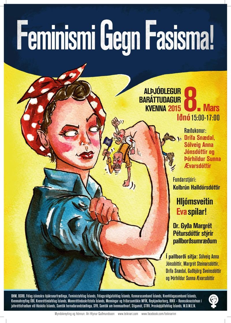feminismi gegn fasisma _ 8. mars 2015